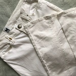 M By Missoni White Denim Flare Bell Trouser Jeans